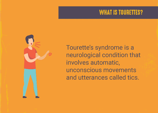 Infographic explaining Tourette's