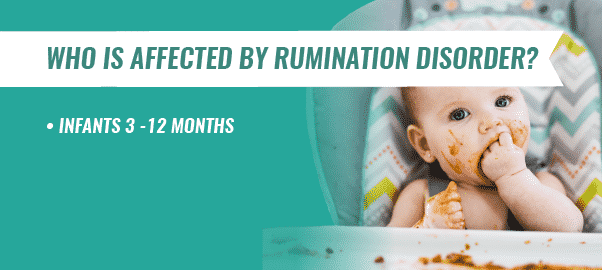inforgraphic stating the age of those affected by rumination disorder