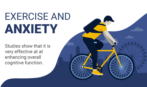 exercise and anxiety small infographic
