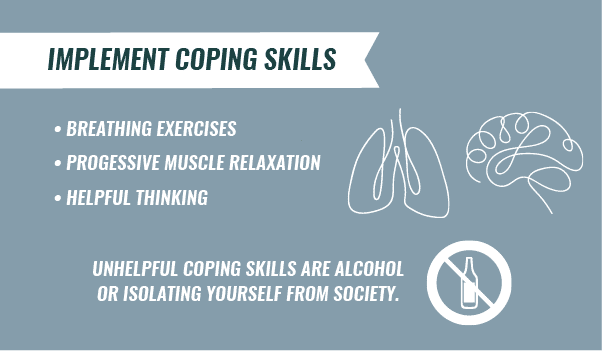 implement coping skills infographic