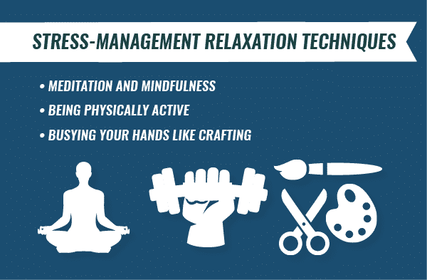 stress management relaxation techniques infographic